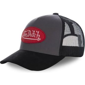 Von Dutch SUEDE2 Black Trucker Hat