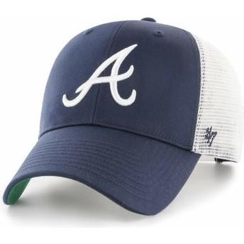 47 Brand Atlanta Braves MLB MVP Branson Navy Blue Trucker Hat