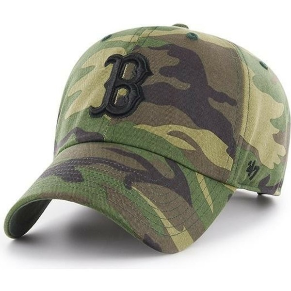 47-brand-curved-brim-black-logo-boston-red-sox-mlb-clean-up-unwashed-camouflage-cap