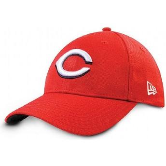 New Era Curved Brim 9FORTY The League Cincinnati Reds MLB Red Adjustable Cap