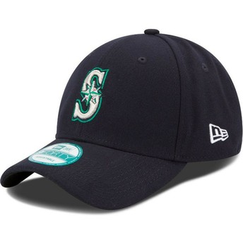 New Era Curved Brim 9FORTY The League Seattle Mariners MLB Navy Blue Adjustable Cap