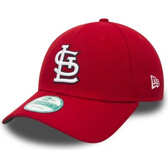 New Era Curved Brim 9FORTY The League St. Louis Cardinals MLB Red Adjustable Cap