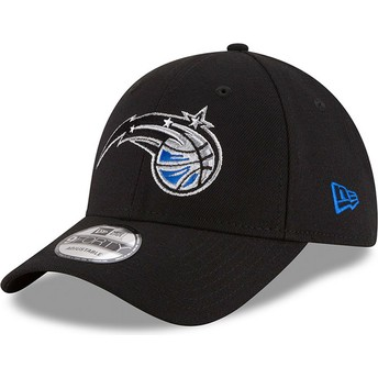 New Era Curved Brim 9FORTY The League Orlando Magic NBA Black Adjustable Cap
