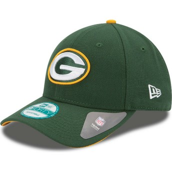 New Era Curved Brim 9FORTY The League Green Bay Packers NFL Green Adjustable Cap