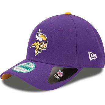 New Era Curved Brim 9FORTY The League Minnesota Vikings NFL Purple Adjustable Cap