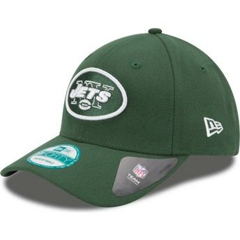 New Era Curved Brim 9FORTY The League New York Jets NFL Green Adjustable Cap