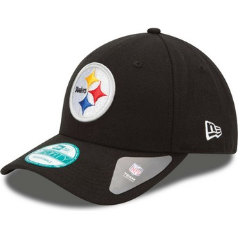 New Era Curved Brim 9FORTY The League Pittsburgh Steelers NFL Black Adjustable Cap