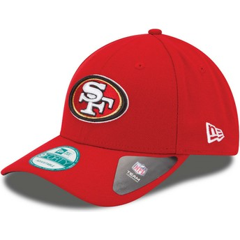 New Era Curved Brim 9FORTY The League San Francisco 49ers NFL Red Adjustable Cap