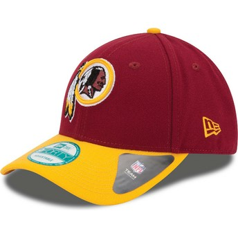New Era Curved Brim 9FORTY The League Washington Redskins NFL Red and Yellow Adjustable Cap