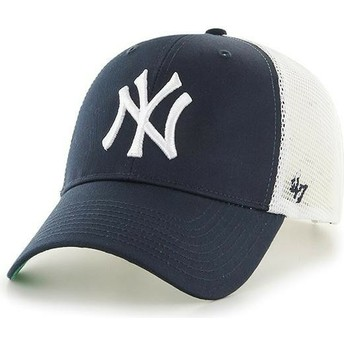 47 Brand Youth New York Yankees MLB MVP Branson Navy Blue Trucker Hat
