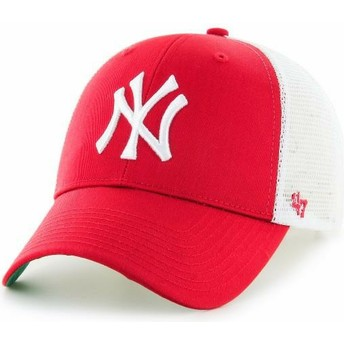 47 Brand Youth New York Yankees MLB MVP Branson Red Trucker Hat