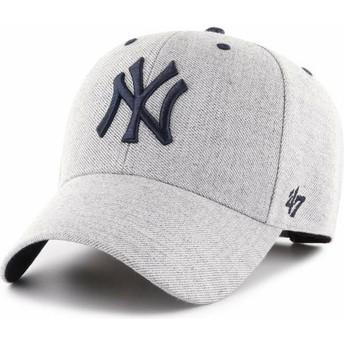 47 Brand Curved Brim New York Yankees MLB MVP Storm Cloud Grey Adjustable Cap