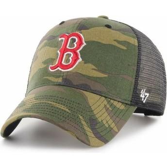47 Brand Boston Red Sox MLB MVP Branson Camouflage Trucker Hat