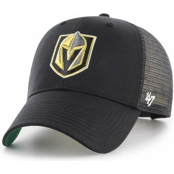 47 Brand Vegas Golden Knights NHL MVP Branson Black Trucker Hat