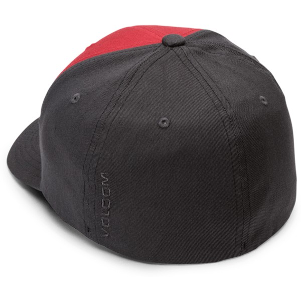 volcom-curved-brim-engine-red-full-stone-xfit-red-and-black-fitted-cap
