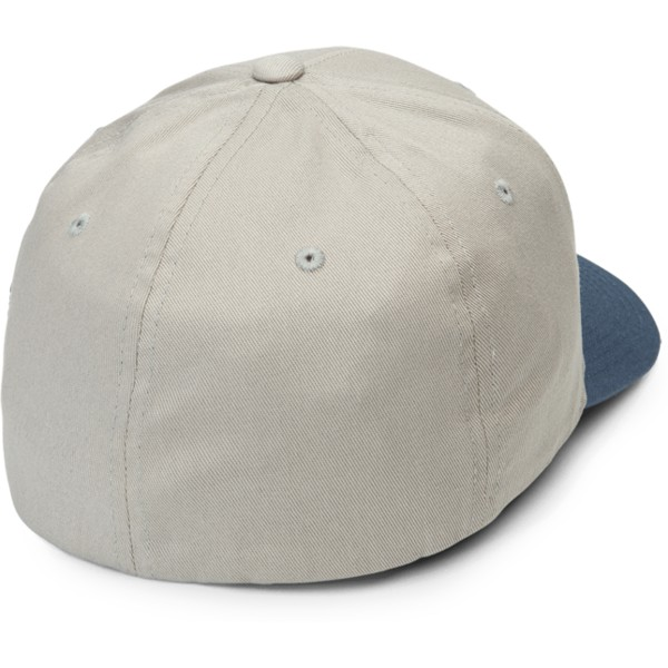 volcom-curved-brim-wrecked-indigo-full-stone-xfit-grey-fitted-cap-with-blue-visor