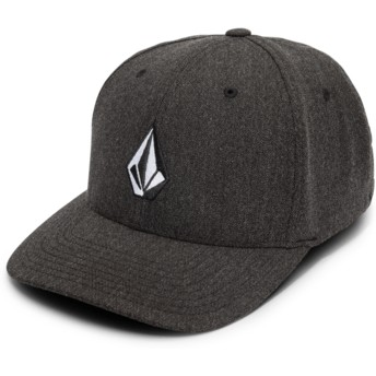 Volcom Curved Brim Charcoal Heather Full Stone Hthr Xfit Black Fitted Cap
