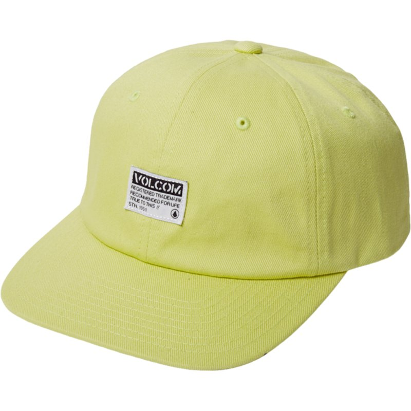 volcom-curved-brim-shadow-lime-case-yellow-adjustable-cap
