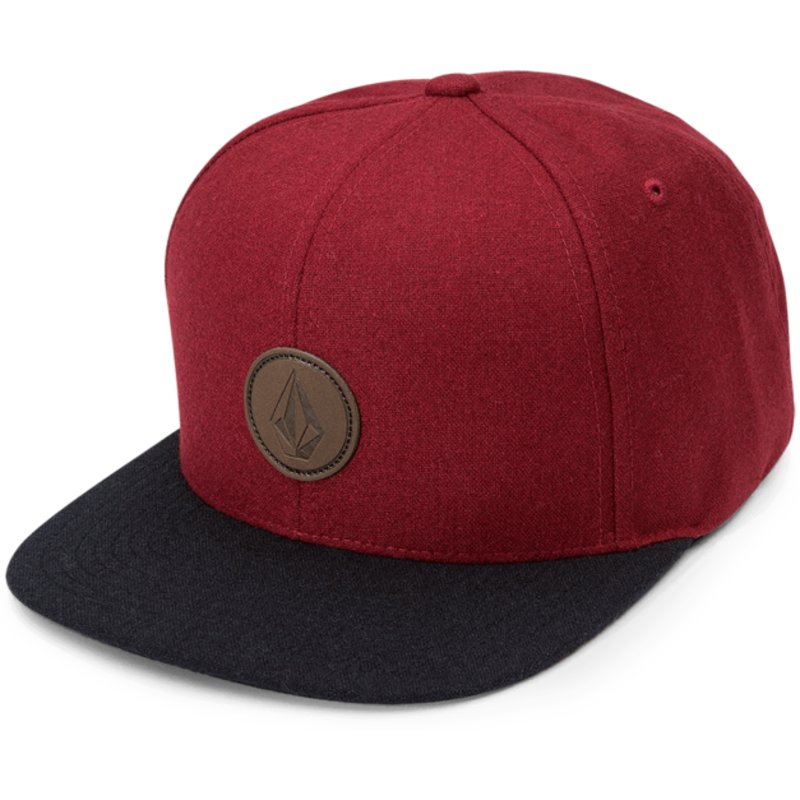 volcom-flat-brim-dark-port-quarter-fabric-red-snapback-cap-with-black-visor