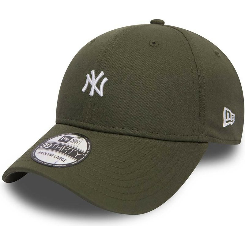 new-era-curved-brim-39thirty-mini-logo-new-york-yankees-mlb-green-fitted-cap