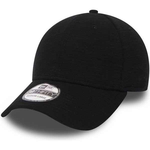 new-era-curved-brim-39thirty-slub-black-fitted-cap
