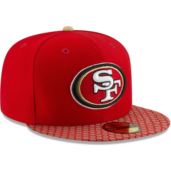 new-era-flat-brim-59fifty-sideline-san-francisco-49ers-nfl-red-fitted-cap
