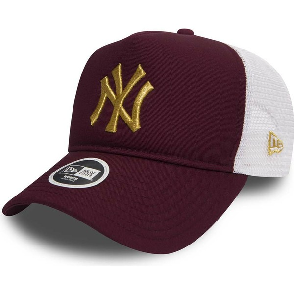 new-era-gold-logo-9forty-essential-new-york-yankees-mlb-maroon-trucker-hat