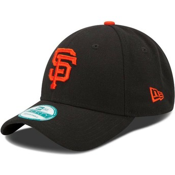 New Era Curved Brim 9FORTY The League San Francisco Giants MLB Black Adjustable Cap