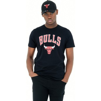 New Era Chicago Bulls NBA Black T-Shirt