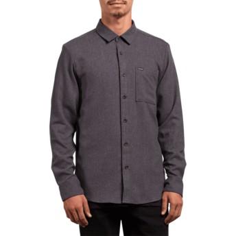 Volcom Asphalt Black Caden Solid Black Long Sleeve Shirt
