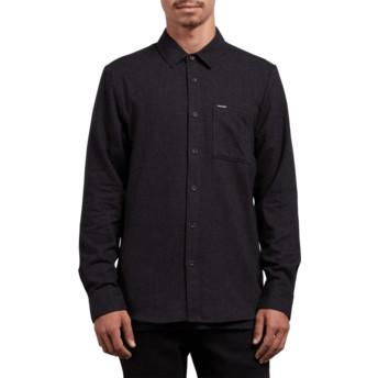Volcom Black Caden Solid Black Long Sleeve Shirt