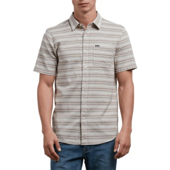 Volcom Clay Sable Grey Short Sleeve Shirt