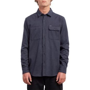 Volcom Midnight Blue Hickson Update Navy Blue Long Sleeve Shirt