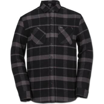 Volcom Black Shader Black Long Sleeve Check Shirt