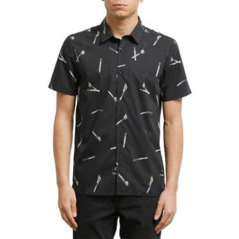 Volcom Black Waits Black Short Sleeve Shirt
