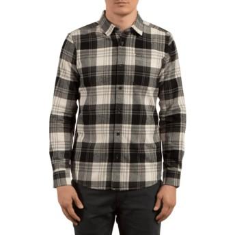 Volcom Cloud Caden Black and Grey Long Sleeve Check Shirt