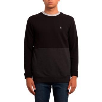 Volcom Black Single Stone Division Black Sweatshirt