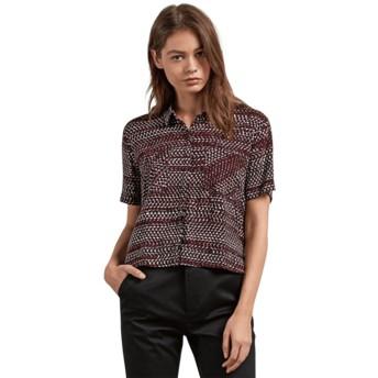Volcom Burgundy Stone Resort Red Short Sleeve Shirt