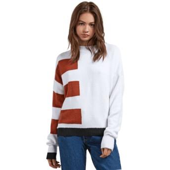 Volcom White Cold Band White Sweater