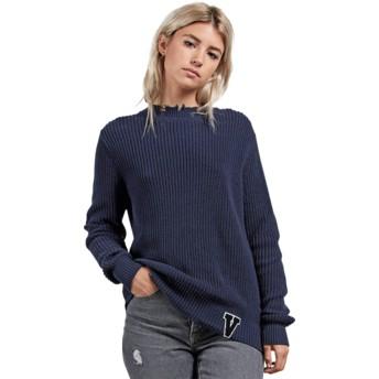 Volcom Sea Navy Snatch Navy Blue Sweater
