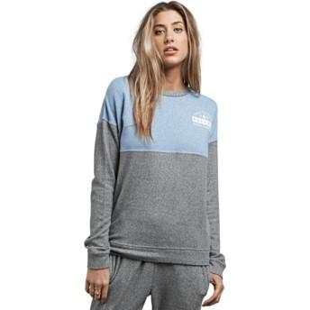 Volcom Charcoal Grey Lil Grey and Blue Sweatshirt