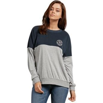 Volcom Sea Navy Blocking Grey and Navy Blue Sweatshirt