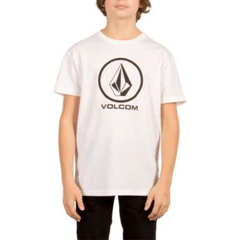 Volcom Youth White Circle Stone White T-Shirt