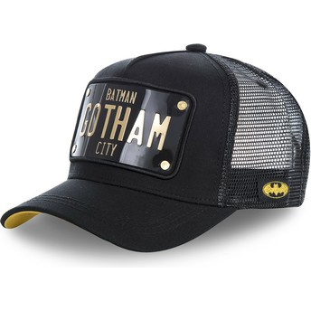 Capslab Batman Gotham City Plate BATP1 DC Comics Black Trucker Hat