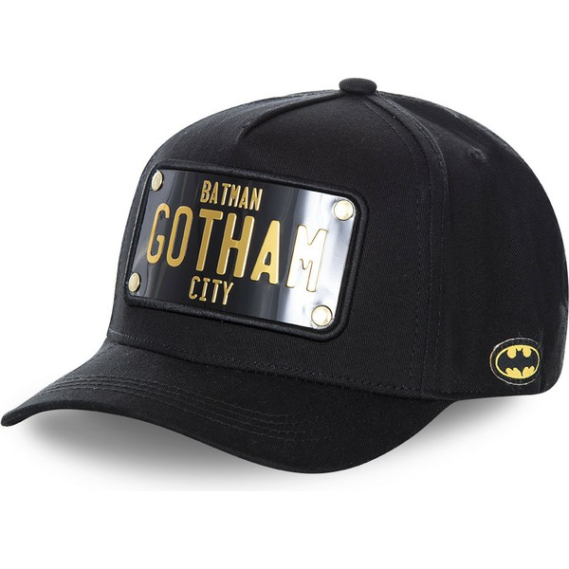 2461945c6 Capslab Curved Brim Batman Gotham City Plate BATP4 DC Comics Black Snapback  Cap