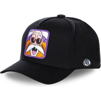 Capslab Curved Brim Master Roshi KAMB Dragon Ball Black Snapback Cap