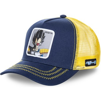 Capslab Vegeta VEG Dragon Ball Yellow and Navy Blue Trucker Hat