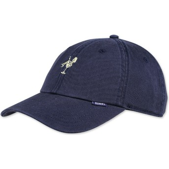 Djinns Curved Brim Washed Girl Navy Blue Adjustable Cap