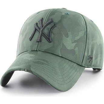 47 Brand Curved Brim New York Yankees MLB Clean Up Jigsaw Green Camouflage Cap