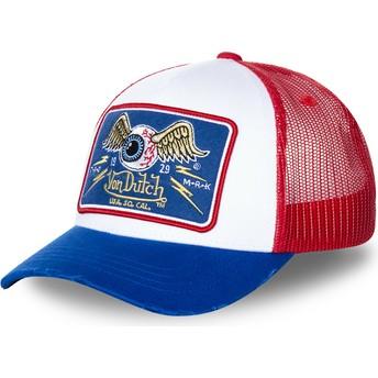 Von Dutch TRUCK18 White, Red and Blue Trucker Hat